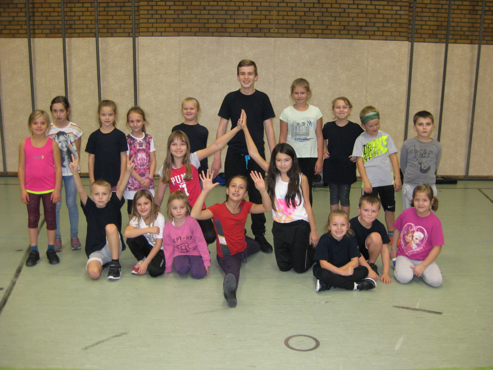 Gruppenfoto der Kindergruppe